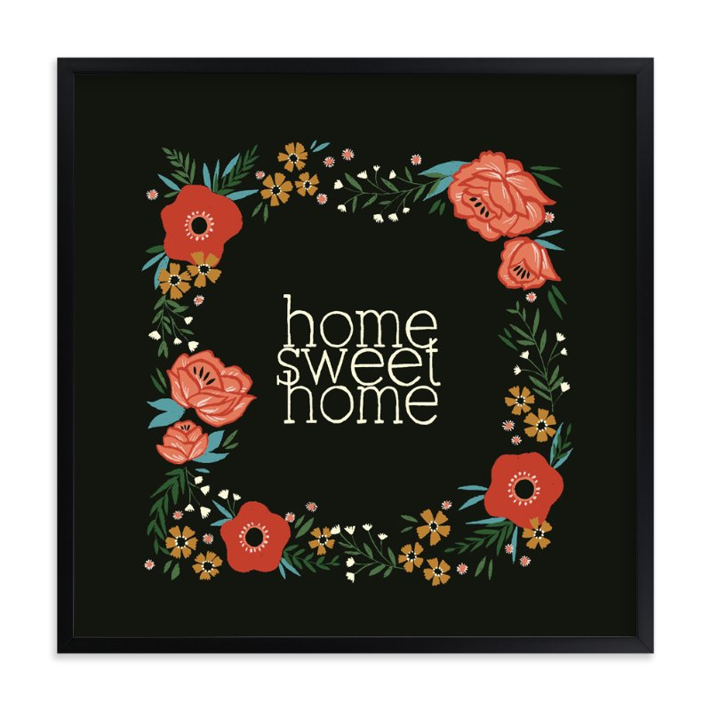 """Home Sweet Home"" - Art Print by Melissa Kelman in beautiful frame options and a variety of sizes."