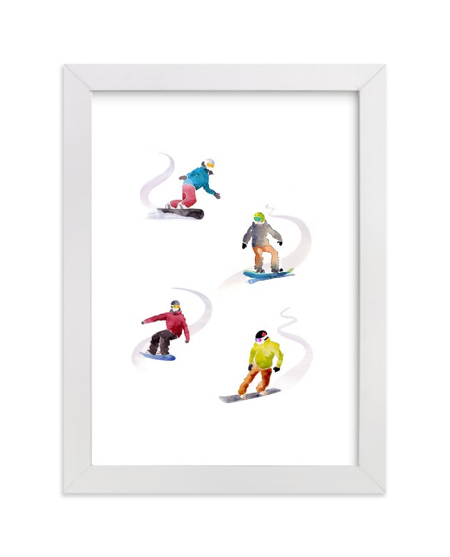 """""""The Boarders"""" - Limited Edition Art Print by Haley Mistler in beautiful frame options and a variety of sizes."""