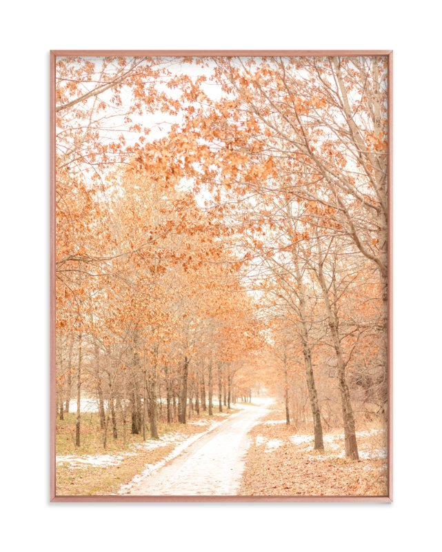 """Winter Yielding"" - Art Print by Kamala Nahas in beautiful frame options and a variety of sizes."
