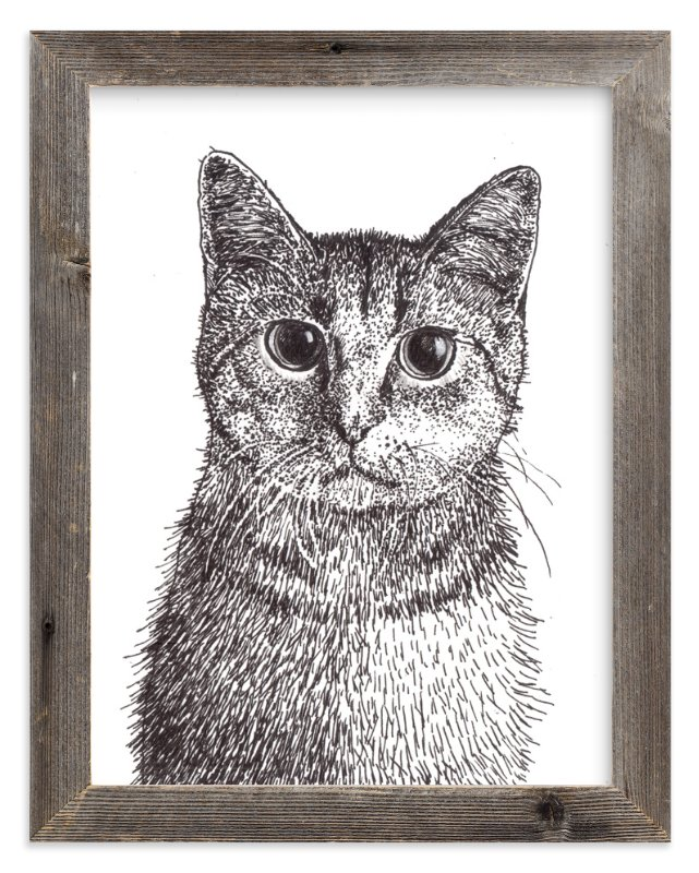 """Kitten"" - Art Print by XL in beautiful frame options and a variety of sizes."
