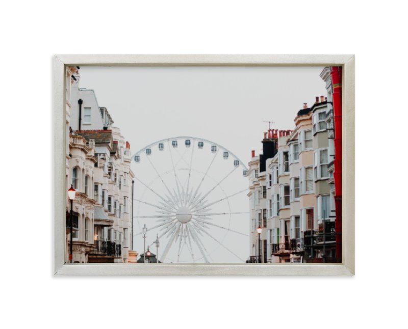 """Down the Street"" - Art Print by Annie Montgomery in beautiful frame options and a variety of sizes."