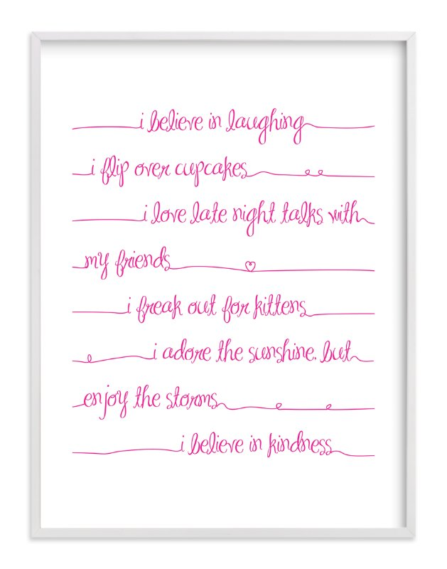 """""""Positive Script"""" - Art Print by Rebecca Lowe in beautiful frame options and a variety of sizes."""