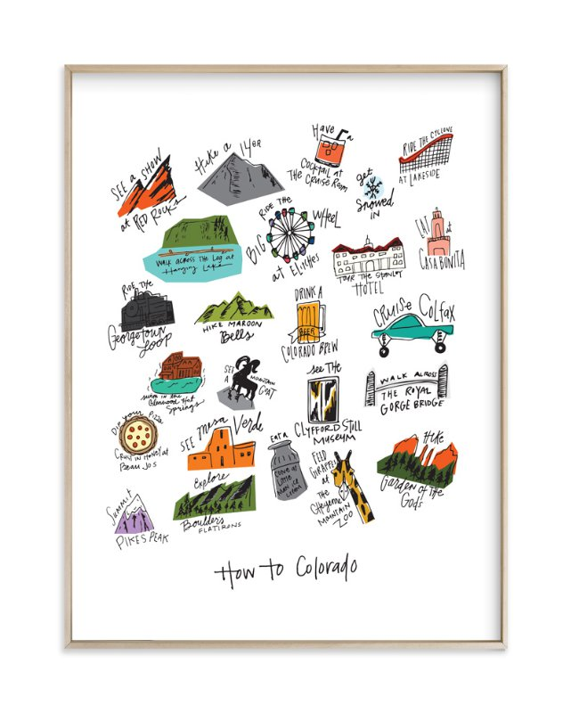 """""""How to Colorado"""" - Art Print by KirstenEva in beautiful frame options and a variety of sizes."""