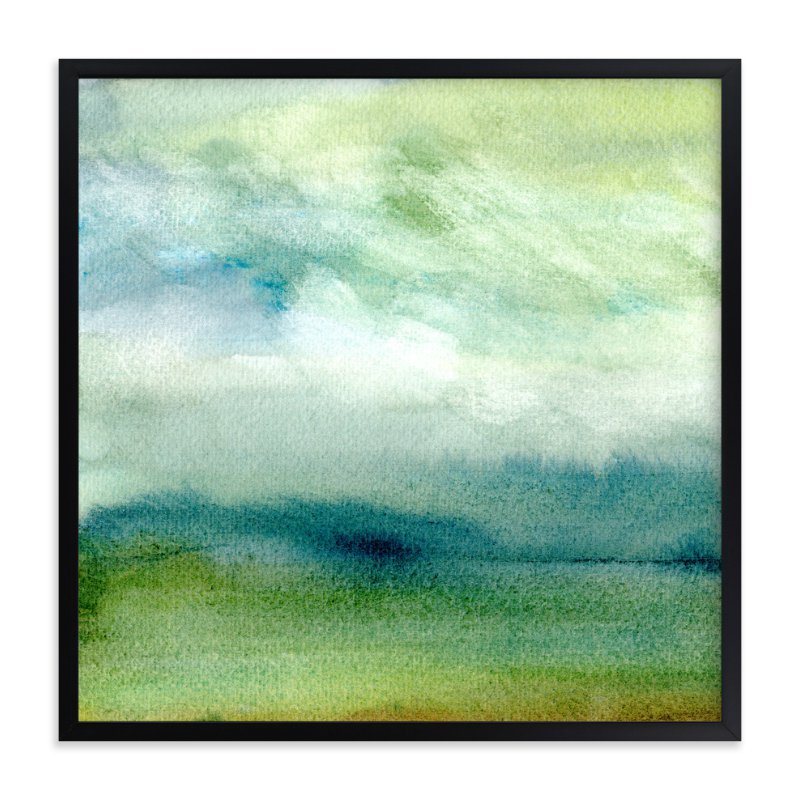 """Tidal Marsh"" - Art Print by Sandra Ovono in beautiful frame options and a variety of sizes."