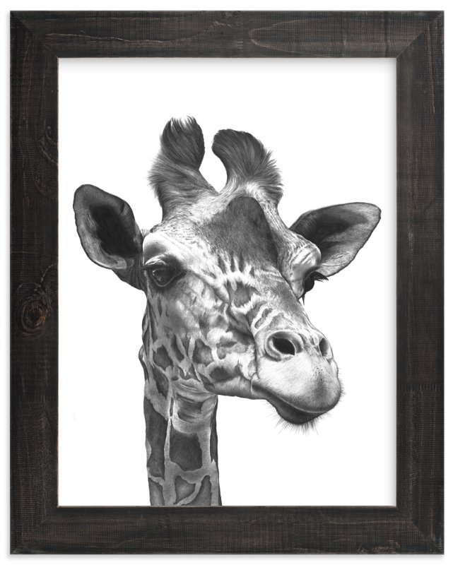 """Giraffe"" - Limited Edition Art Print by Jerry Winick in beautiful frame options and a variety of sizes."