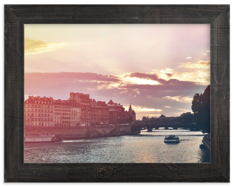 """""""Sunset on The Seine"""" - Art Print by Letter and Ink in beautiful frame options and a variety of sizes."""