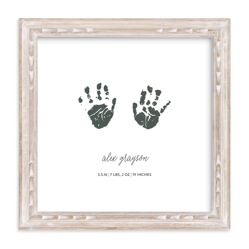 """Custom Handprints as Art"" - Drawn Digital Art by Minted in beautiful frame options and a variety of sizes."