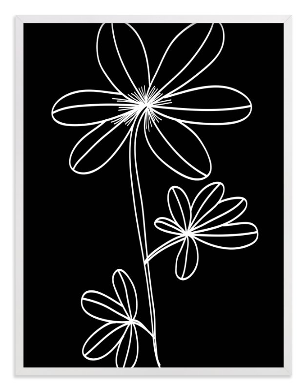 """""""doodle flower"""" - Art Print by aticnomar in beautiful frame options and a variety of sizes."""