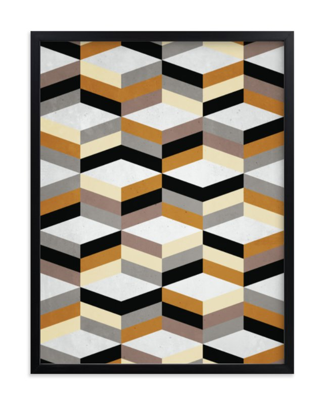 """""""MCMcube"""" - Art Print by Three Kisses Studio in beautiful frame options and a variety of sizes."""