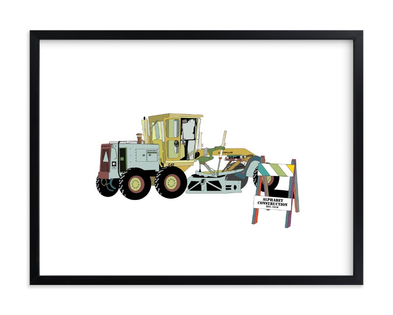 """""""Big Machinery"""" - Art Print by Pat Jennings in beautiful frame options and a variety of sizes."""