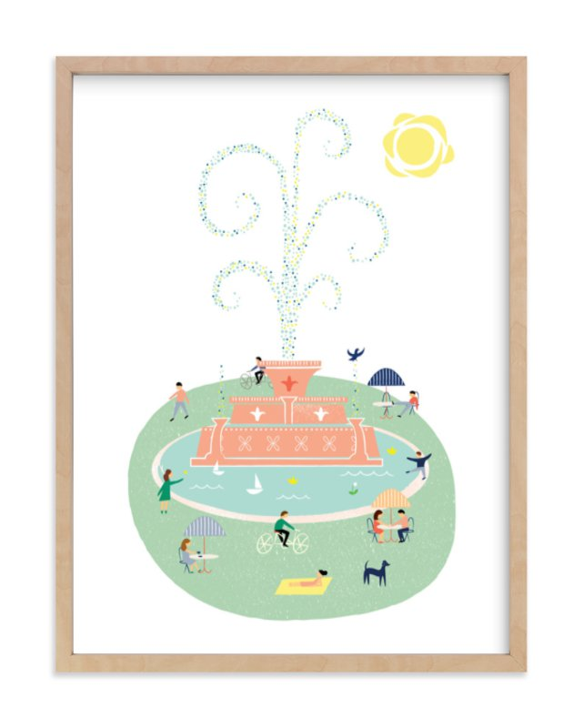 """""""The Fountain"""" - Art Print by Morgan Ramberg in beautiful frame options and a variety of sizes."""