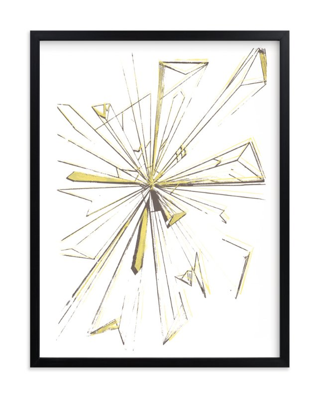 """Starburst Series 3"" - Art Print by Angela Simeone in beautiful frame options and a variety of sizes."