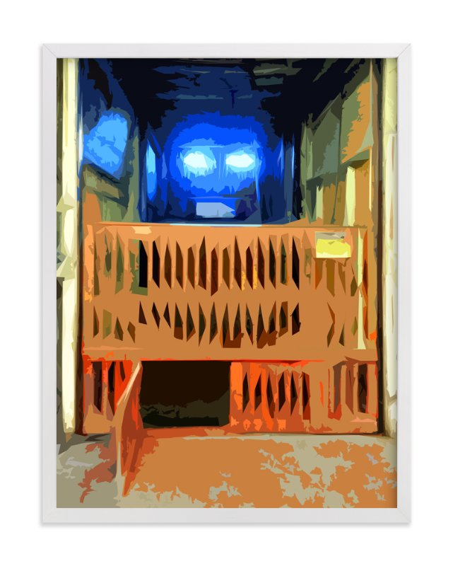 """CagedElevator"" - Art Print by Jeff Preuss in beautiful frame options and a variety of sizes."