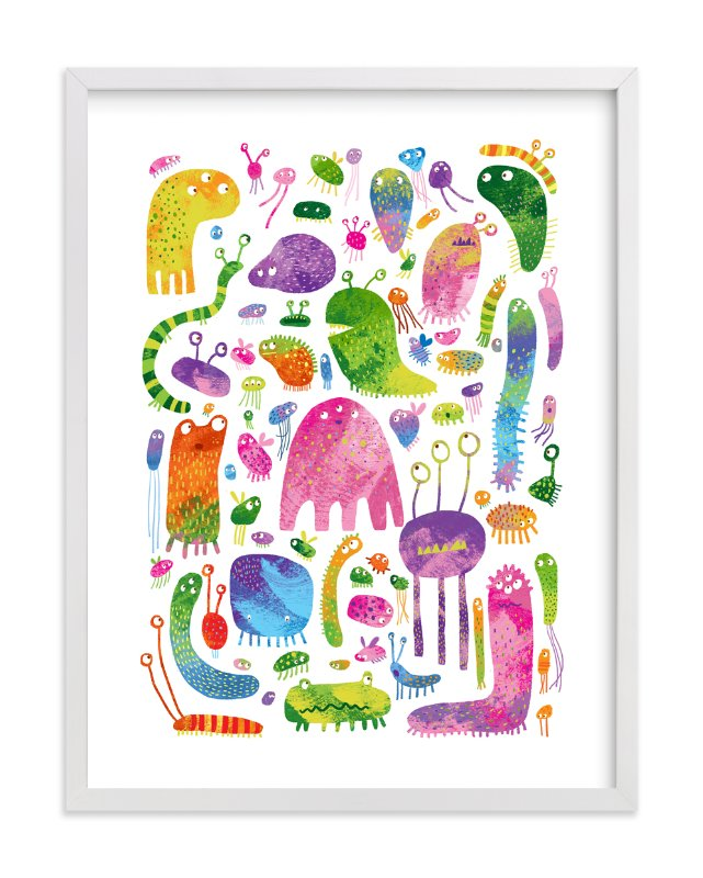 """Meet the Monsters"" - Art Print by Evelline Andrya in beautiful frame options and a variety of sizes."