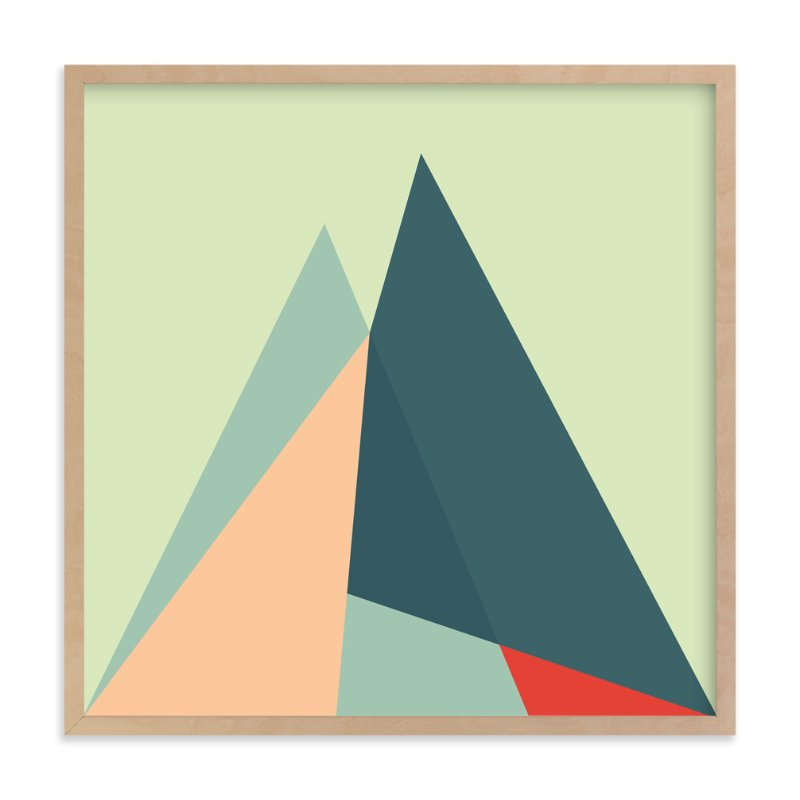 """Geometric Landscape2"" - Art Print by Lucrecia in beautiful frame options and a variety of sizes."