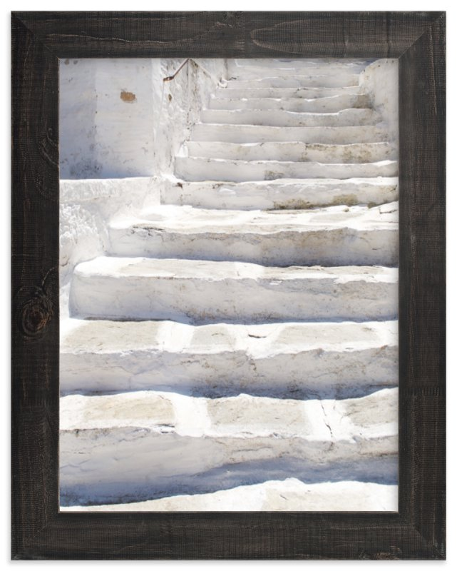 """""""White stairs"""" - Art Print by Marimba Morris in beautiful frame options and a variety of sizes."""