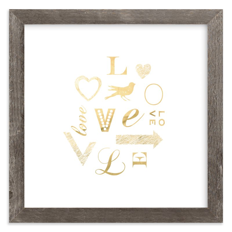 """My Type of Love"" - Art Print by hey paper moon in beautiful frame options and a variety of sizes."