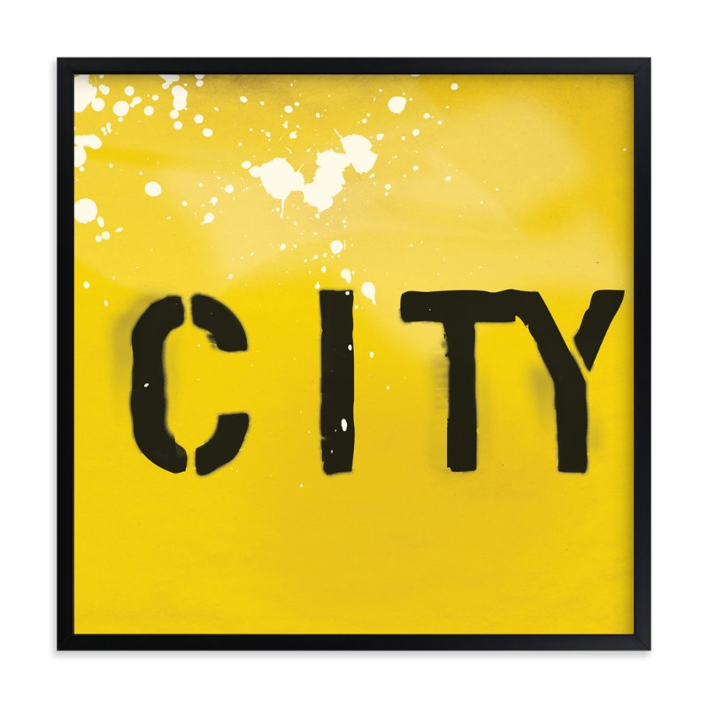 """""""City"""" - Art Print by Todd Jones in beautiful frame options and a variety of sizes."""