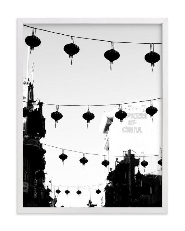 """Welcome to Chinatown"" - Art Print by Nadia Hassan in beautiful frame options and a variety of sizes."