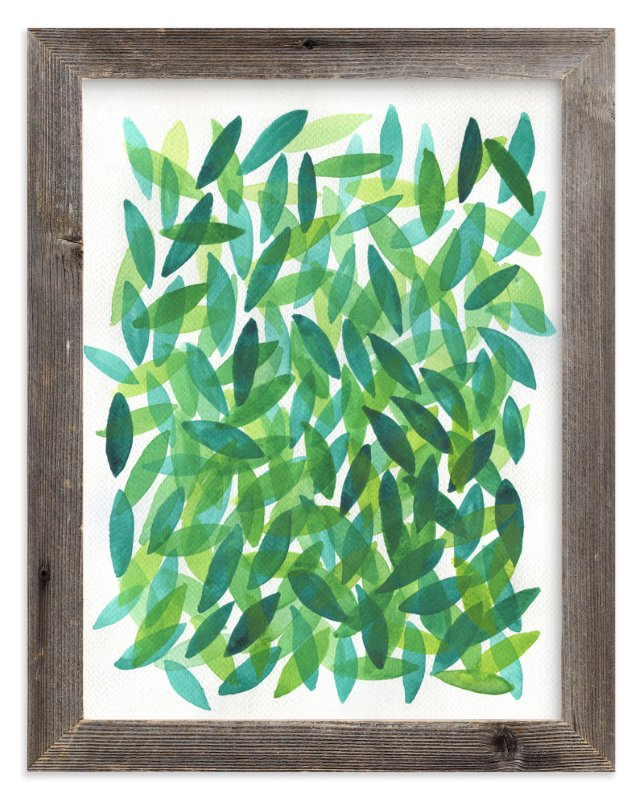 """""""Falling Leaves"""" - Art Print by Tennyson Tippy in beautiful frame options and a variety of sizes."""
