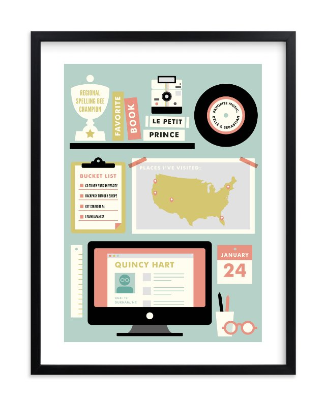 """Workstation"" - Children's Custom Art Print by kat bison in beautiful frame options and a variety of sizes."