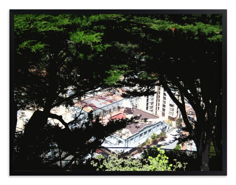 """""""San Francisco Tree View"""" - Art Print by Jeff Preuss in beautiful frame options and a variety of sizes."""