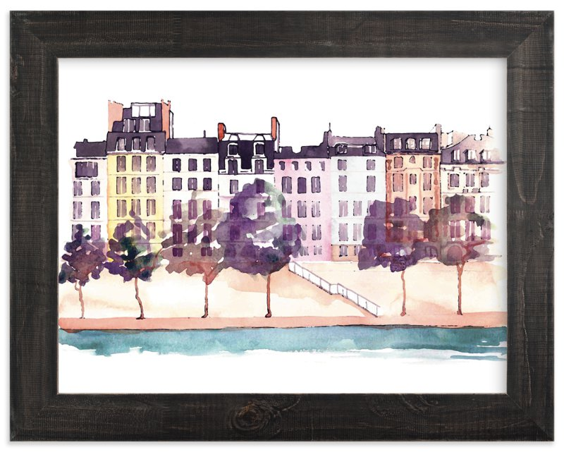 """""""Parisian Life"""" - Art Print by Kelsey McNatt in beautiful frame options and a variety of sizes."""