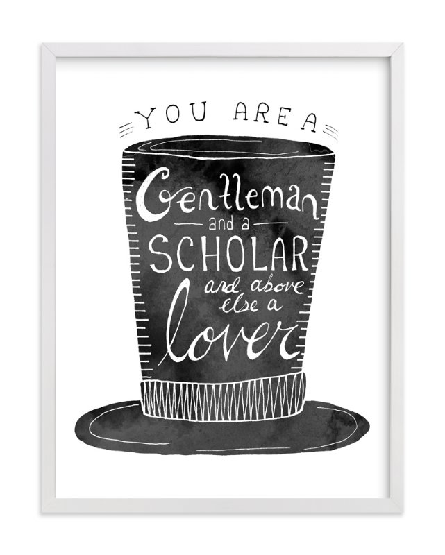 """""""Gentleman & Scholar"""" - Art Print by Marta Berk in beautiful frame options and a variety of sizes."""