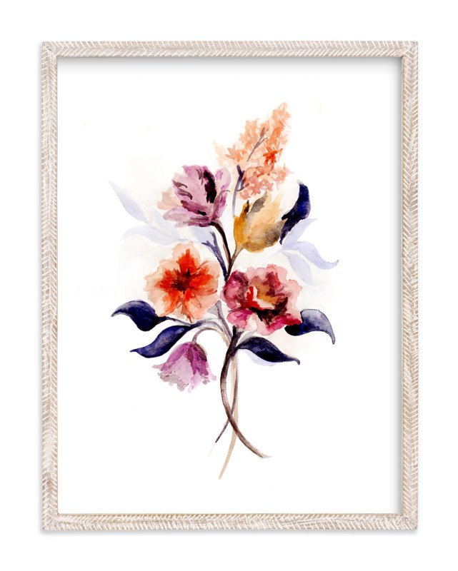 """Grecian Floral"" - Art Print by Olivia Kanaley in beautiful frame options and a variety of sizes."