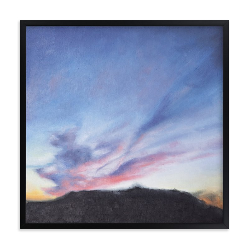 """""""Winter Sunset"""" - Art Print by Kristiina Almy in beautiful frame options and a variety of sizes."""