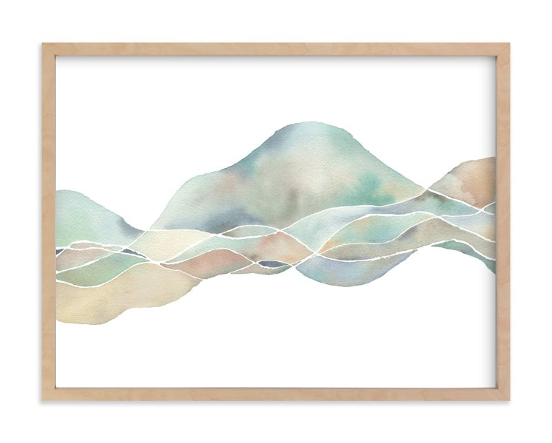 """Marin"" - Art Print by Jennifer Daily in beautiful frame options and a variety of sizes."