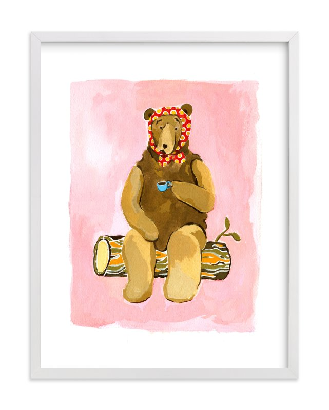 """Spot of Tea"" - Art Print by Betty Hatchett in beautiful frame options and a variety of sizes."