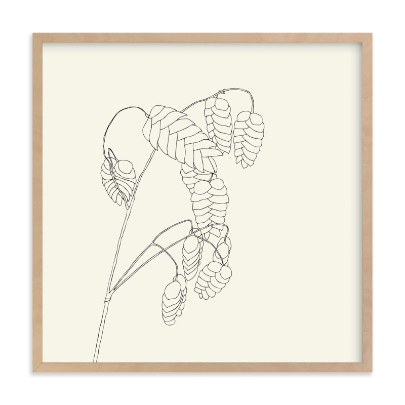 """Grass With Seeds"" - Art Print by Jorey Hurley in beautiful frame options and a variety of sizes."