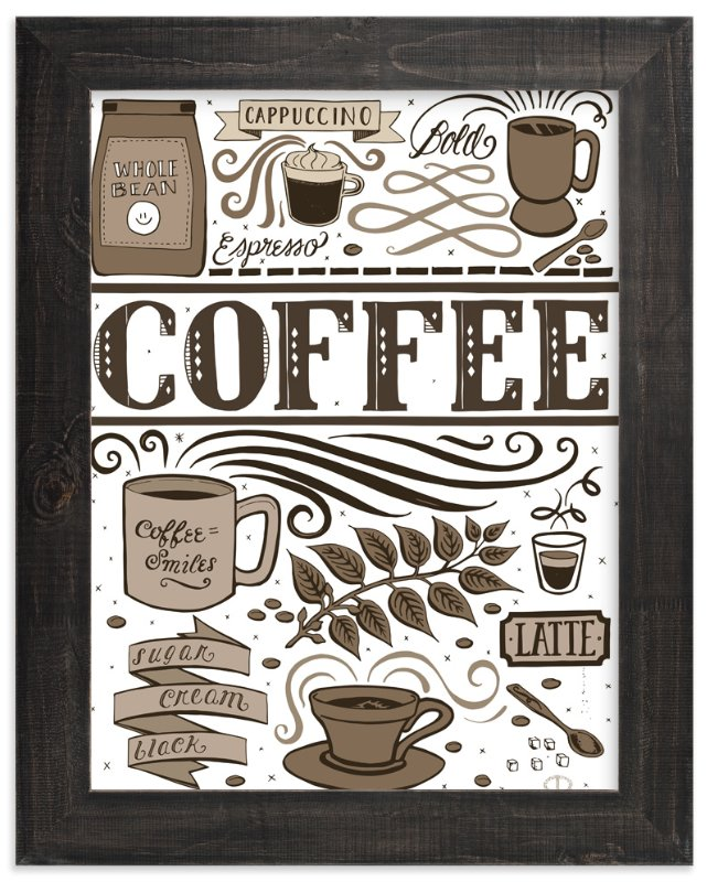 """""""Coffee Love"""" - Art Print by Cynthia Oswald in beautiful frame options and a variety of sizes."""