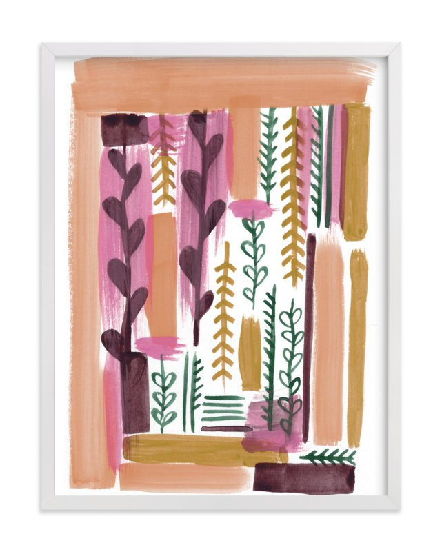 """""""Garden Composition"""" - Art Print by Moglea in beautiful frame options and a variety of sizes."""