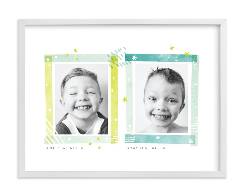 """Say Cheese"" - Children's Custom Photo Art Print by Shirley Lin Schneider in beautiful frame options and a variety of sizes."