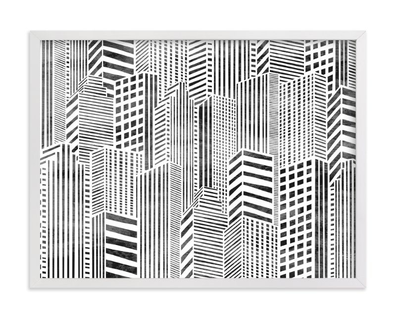 """Linear City"" - Art Print by Daniela in beautiful frame options and a variety of sizes."