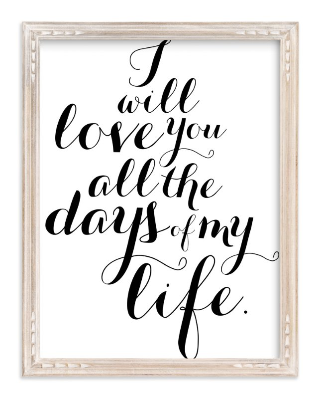 """All My Days"" - Art Print by Molly Brekke in beautiful frame options and a variety of sizes."