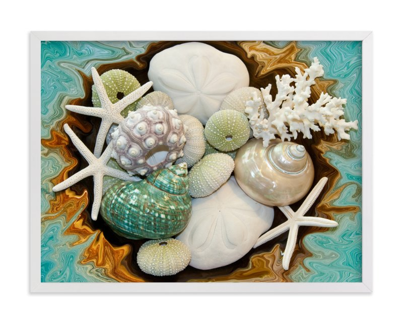 """Sea Shell Swirls"" - Art Print by Debra Butler in beautiful frame options and a variety of sizes."