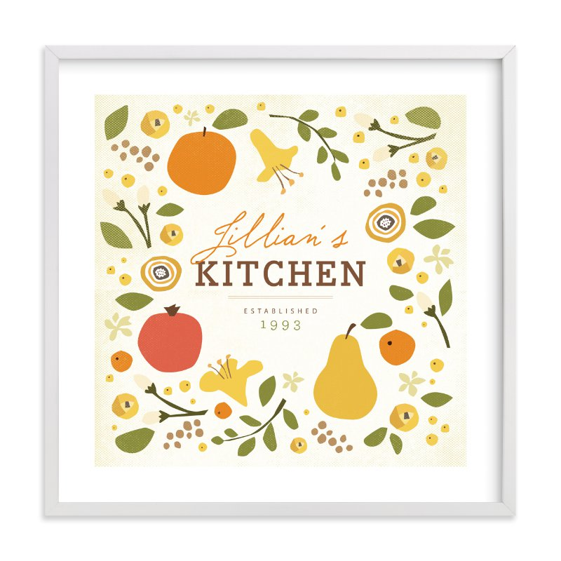 """""""Let's Eat"""" by Jennifer Wick in beautiful frame options and a variety of sizes."""