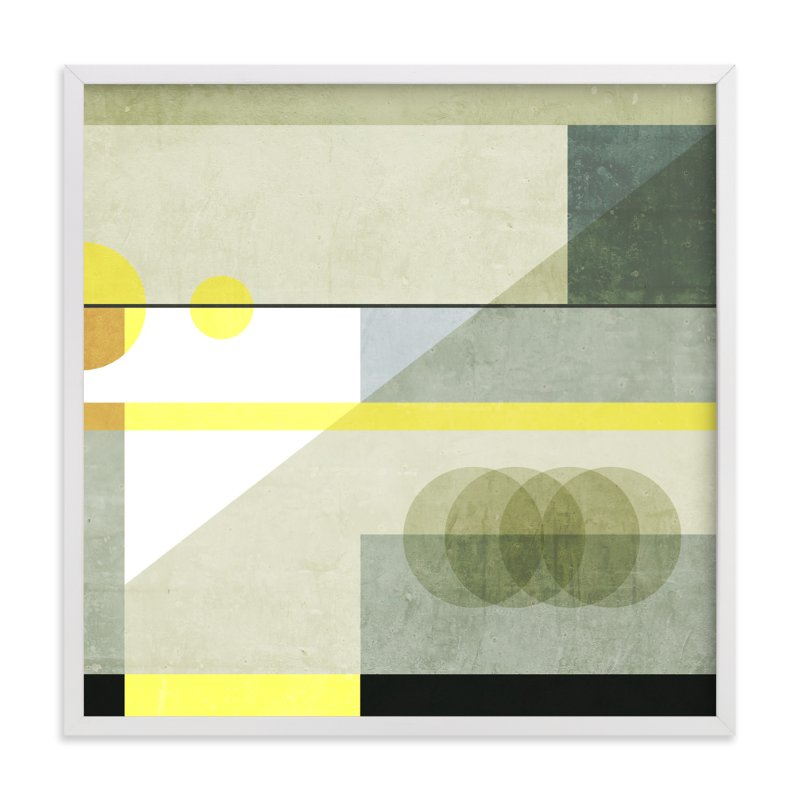 """Concrete blocks"" - Art Print by Lucrecia in beautiful frame options and a variety of sizes."