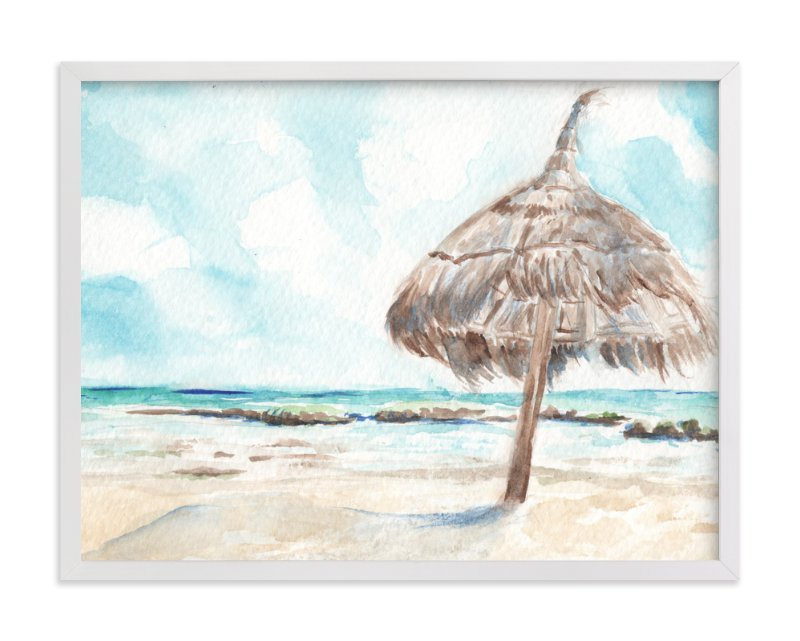 """""""La Palapa"""" - Art Print by Annie Moran in beautiful frame options and a variety of sizes."""
