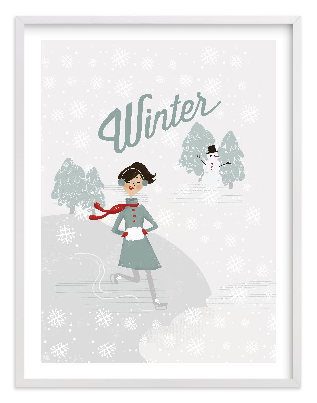 """Winter Wonder"" - Limited Edition Art Print by Pistols in beautiful frame options and a variety of sizes."