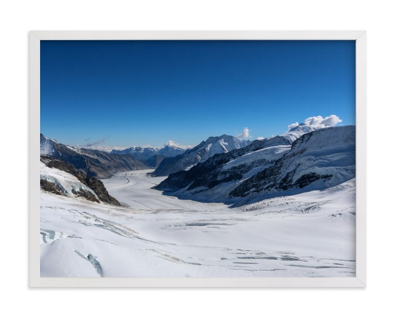 """Blue Alpine 1"" - Art Print by Heather Squance in beautiful frame options and a variety of sizes."