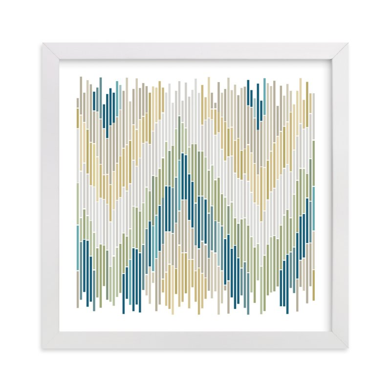 """Mosaic Chevron"" - Art Print by Erin Deegan in beautiful frame options and a variety of sizes."