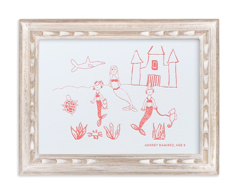 """""""Your Drawing as Letterpress Art Print"""" - Drawn Letterpress Art by Minted Custom in beautiful frame options and a variety of sizes."""