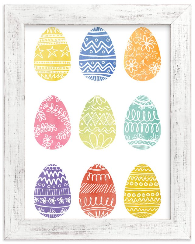 """""""Painted Eggs"""" - Art Print by 2birdstone in beautiful frame options and a variety of sizes."""
