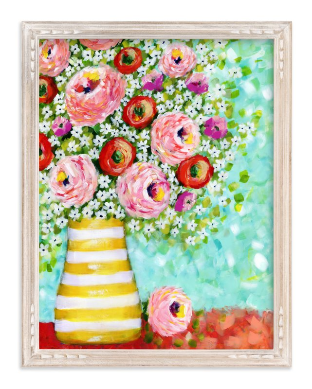 """""""Daisy Surprise"""" - Art Print by Sen Chloe in beautiful frame options and a variety of sizes."""