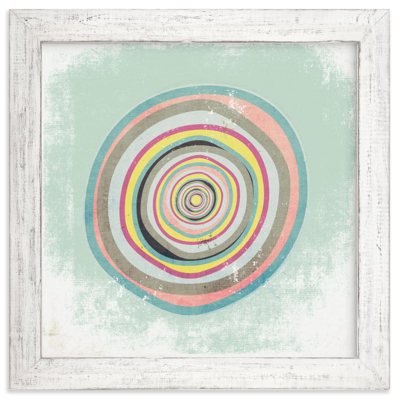 """Pretty Geode"" - Art Print by Amy Moen in beautiful frame options and a variety of sizes."