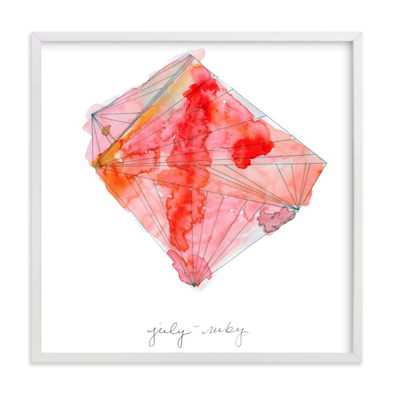 """July - Ruby"" - Art Print by Naomi Ernest in beautiful frame options and a variety of sizes."